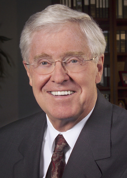 Charles Koch, CEO of Koch Industries Inc., is shown in this undated company handout photo.  Koch Industries Inc. agreed to buy Georgia-Pacific Corp. for $13.2 billion in cash, adding Dixie paper cups, cardboard boxes and lumber to fuel and chemical businesses to become the largest closely held company in the U.S. Source: Koch Industries Inc. via Bloomberg News