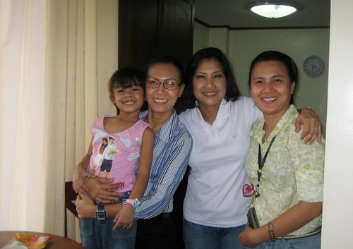Eunice Jones, center, her sister Myra Costales with daughter Brenn, and Jones' other sister Emerald Guerra, pose for a portrait in the Philippines last January. Jones emigrated from the Philippines in 1986 and has been trying to get Emerald Guerra naturalized since 2003. She recently found out it might take another 15 years until her sister will be considered. Courtesy Photo, Eunice Jones