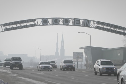 Rick Egan   |  The Salt Lake Tribune  Looking south on Washington Boulevard toward downtown Ogden on Friday, Jan. 7, 2011.