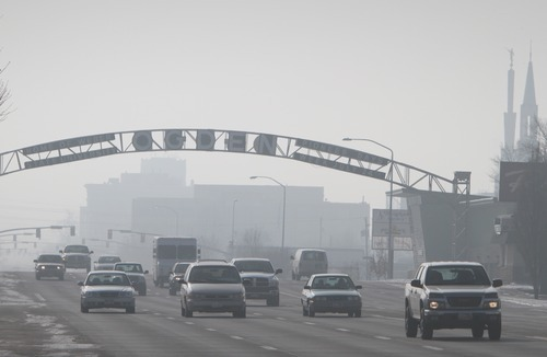 Rick Egan   |  The Salt Lake Tribune  Looking south on Washington Boulevard toward downtown Ogden on Friday, Jan. 7, 2011.
