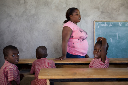 Inside one of three school buildings in Haiti financed by embattled Utah millionaire Jeremy Johnson. Courtesy of Seth Smooth photography.