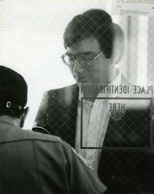 FILE  |  The Salt Lake Tribune Mark Hofmann checking in at the prison