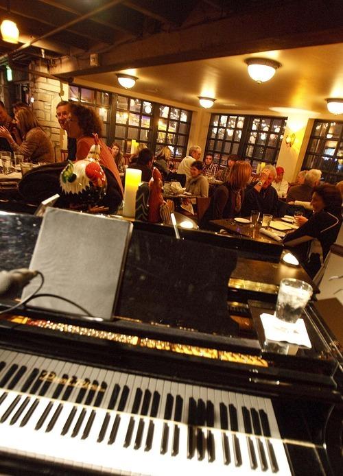 Trent Nelson  |  The Salt Lake Tribune The downstairs bar, Bar Boheme, at Easy Street Brasserie in Park City.