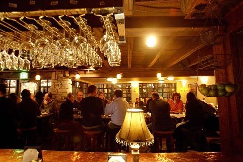 Trent Nelson  |  The Salt Lake Tribune The downstairs bar at Easy Street Brasserie in Park City.