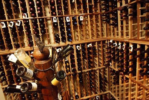 Trent Nelson  |  The Salt Lake Tribune The wine cellar at Easy Street Brasserie in Park City.