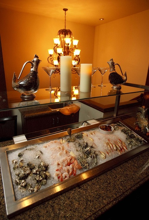 Trent Nelson  |  The Salt Lake Tribune The cold seafood bar at Easy Street Brasserie in Park City.