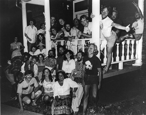 The MX Information Center gang at a party in early 1981. Credit: courtesy Special Collections, J. Willard Marriott Library, University of Utah