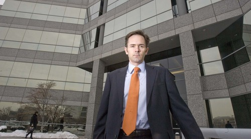 Paul Fraughton  |  The Salt Lake Tribune    Abe Bates is an attorney who has filed more than a hundred lawsuits dealing with foreclosures and other property related issues. Ironically he is locating his booming practice in the  same offices once used by Countrywide Mortgage. Thursday, January 13, 2011.