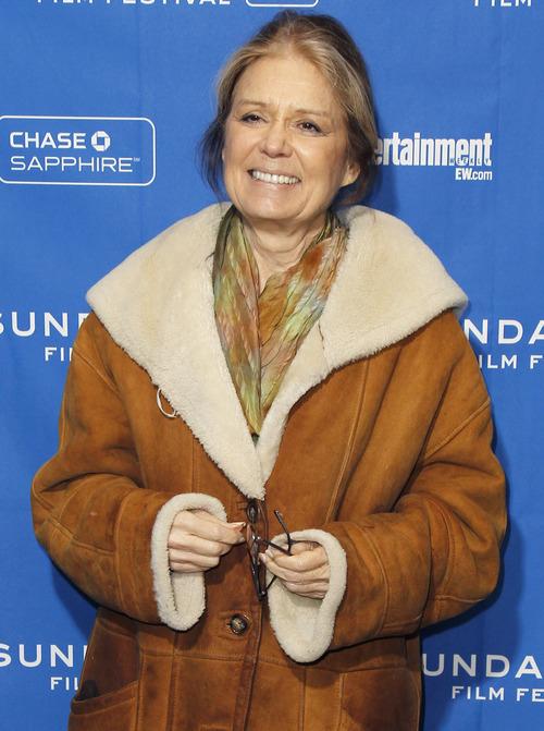 Activist Gloria Steinem poses at the premiere of