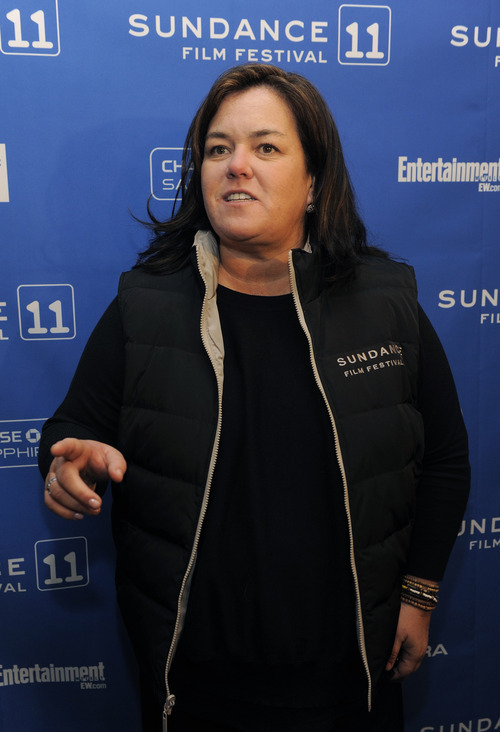 Rosie O'Donnell, curator of the Oprah Winfrey Network's non-fiction films, arrives at the premiere of the OWN documentary film