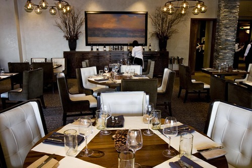 Djamila Grossman     The Salt Lake Tribune The stone-rich, neutral-toned décor is luxe at J & G Grill at Deer Valley. The views are stunning. And when the food is a hit, it's sublime.