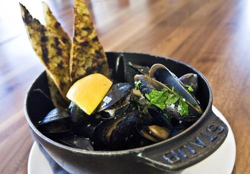 Djamila Grossman     The Salt Lake Tribune  The Maine mussels mariniere at J&G Grill at St. Regis Deer Valley Resort.