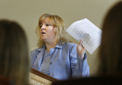 File photo  |  The Salt Lake Tribune Mary Batchelor, representing