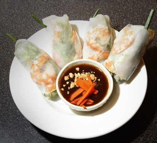 Rick Egan   |  The Salt Lake Tribune The East-West Connection in Salt Lake City's Foothill Village offers a great alternative to ubiquitous Chinese takeout. Pictured, summer rolls.