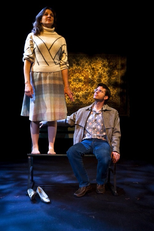 Chris Detrick for In This Week  Nell Gwynn as Ann and Josh Thoemke as Mike in a scene from Salt Lake Acting Company's