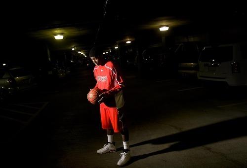 Djamila Grossman  |  The Salt Lake Tribune  West High School senior Tyrell Corbin poses for a portrait in Salt Lake City, Thursday, Nov. 18, 2010.