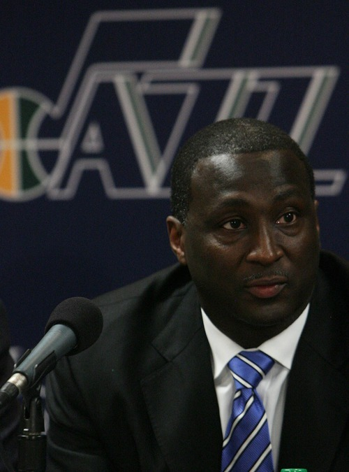 Leah Hogsten  |  The Salt Lake Tribune Former assistant coach Tyrone Corbin was named head coach of the Utah Jazz on Thursday with the sudden resignation of Jerry Sloan.