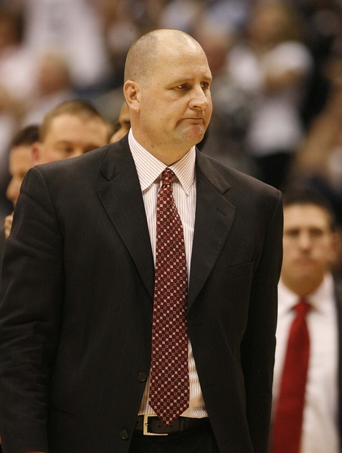 Trent Nelson  |  The Salt Lake Tribune Utah coach Jim Boylen in the second half at BYU vs. Utah, college basketball in Provo, Utah, Saturday, February 12, 2011. BYU won 72-59.