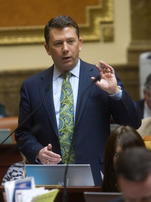 File photo  |  The Salt Lake Tribune  Rep. Stephen Sandstrom, R-Orem, is exploring a possible run for Congress.