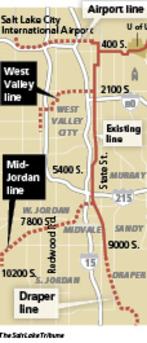TRAX extensions will bring changes With the opening of new West Valley and Mid- Jordan TRAX light-rail extensions in August, the Utah Transit Authority is looking at reconfiguring TRAX routes and cutbacks in bus service to help finance the transition. UTA is seeking public input on bus service reductions, including one option to end weekend runs.