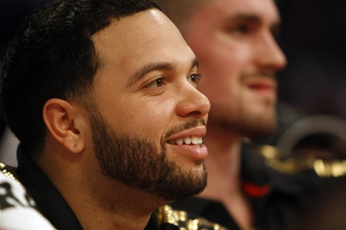 Chris Detrick | The Salt Lake Tribune  A deal is in the works Wednesday for the Utah Jazz to trade all-star point guard Deron Williams to the New Jersey Nets for two players, two draft picks and cash in a shocking NBA trade.