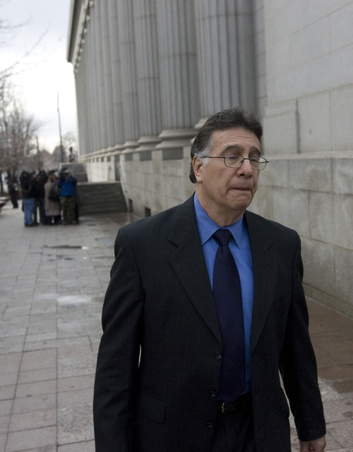 AL HARTMANN      Tribune File Photo Former pesticide technician Coleman Nocks faces a change-of-plea hearing Tuesday. In this file photo, the former pesticide technician is shown leaving federal court in Salt Lake City following a previous hearing. Nocks and his former employer are charged of misuse of fumigants that have been linked to the 2010 deaths of Rebecca and Rachel Toone.
