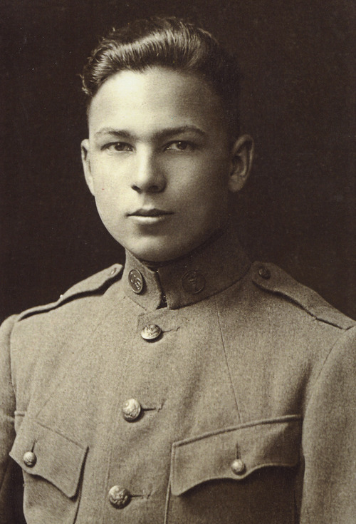 This August 1917 file photo provided by the Buckles family shows Frank Buckles' enlistment photo into the U.S. Army. Buckles, who died early Sunday at age 110, enlisted in World War I at 16 after lying about his age.
