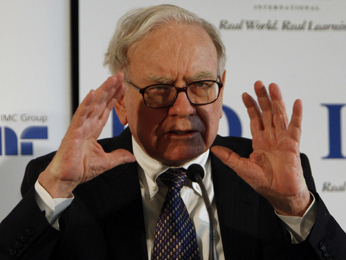 Billionaire investor Warren Buffett called Monday in a New York Times opinion piece on the so-called