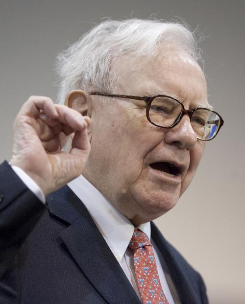 Nati Harnik  |  AP file photo Berkshire Hathaway CEO Warren Buffett, shown in 2009, wrote in his annual report that