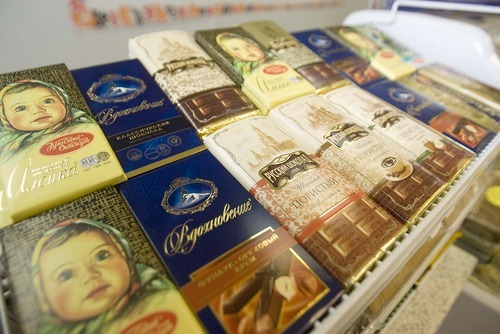 Paul Fraughton  |  The Salt Lake Tribune Chocolate bars are on display at Moscow Gourmet Foods and Gifts in Draper. The store sells gift baskets and has a deli.