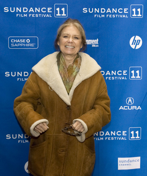 Steve Griffin  |  The Salt Lake Tribune   Gloria Steinem attends the Sundance premiere of
