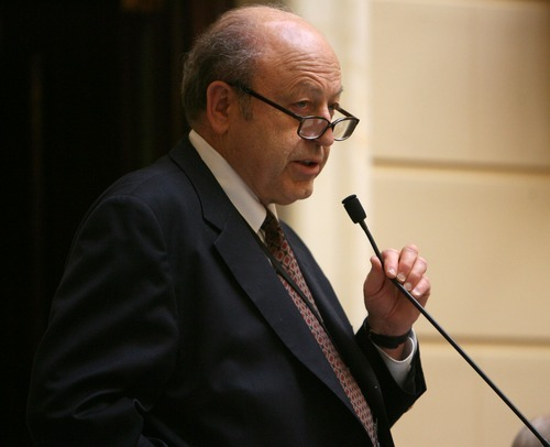 Steve Griffin  |  Tribune file photo Sen. Lyle Hillyard, R-Logan, wants to see the state's college basketball teams continue to play each other and is considering legislation that would require in-state matchups.