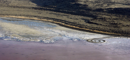 The Spiral Jetty in 2008. Tribune file photo