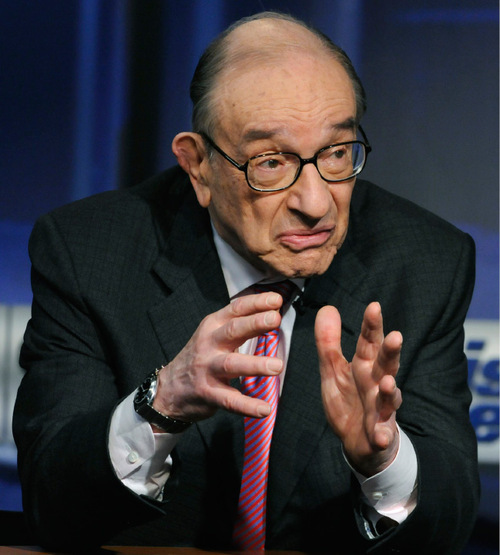 In this photo provided by ABC former Federal Reserve Chairman Alan Greenspan is interviewed on ABC's This Week in Washington Sunday, April 4, 2010.  (AP Photo/ABC, This Week) MANDATORY CREDIT; NO ARCHIVES; NO SALES