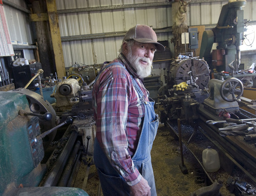 Al Hartmann  | The Salt Lake Tribune Master machinist and welder Vaughn Reid has been busy in his retirement, allowing his imagination and sense of humor to come to the forefront in creating UFO sculptures and an array of other products at his