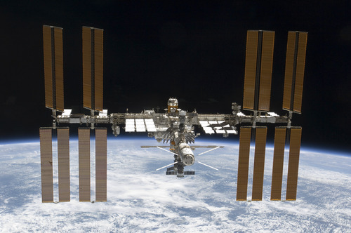 In this image provided by NASA the International Space Station is featured in this image photographed by an STS-133 crew member on space shuttle Discovery after the station and shuttle began their post-undocking relative separation. Undocking of the two spacecraft occurred at 7 a.m. (EST) on March 7, 2011. Discovery is on the verge of ending its nearly 27-year flying career. Landing is set for Wednesday.   (AP Photo/NASA)