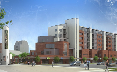 The final design of the Wilmington Gardens Group development along Wilmington Avenue across the street from Sugar House Park. Rendering courtesy of Wilmington Gardens Group.