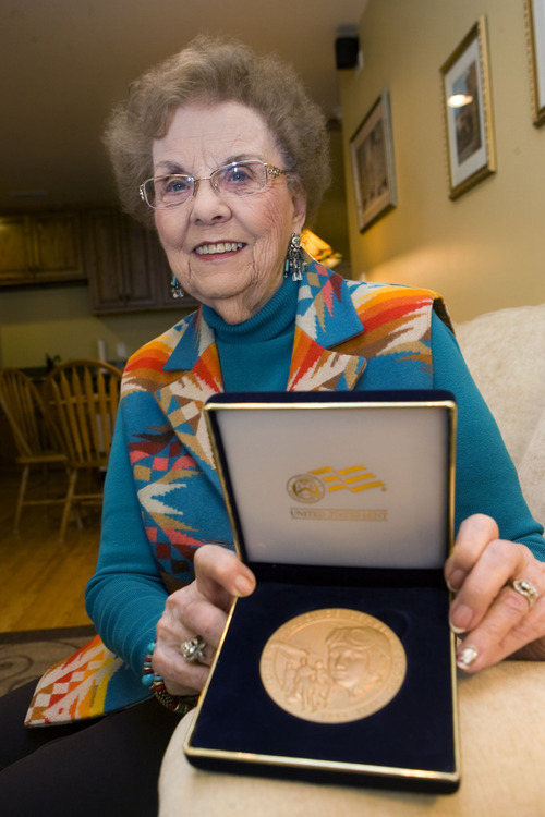 Al Hartmann   |  The Salt Lake Tribune  Nell Stevenson Bright became a pilot in the Army Air Force during World War II to relieve the men for battle. She and fellow female pilots were given the Congressional Gold Honor by President Obama in 2010.