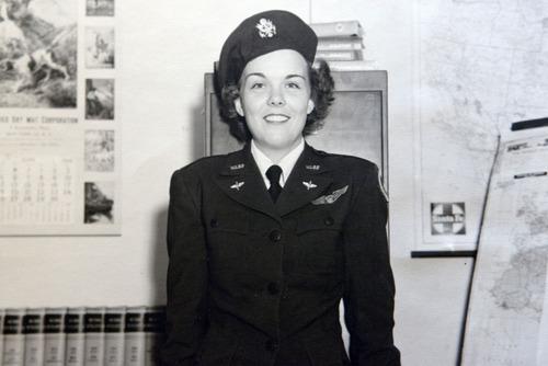 Nell Stevenson Bright in 1944.  Photo courtesy of Nell Stevenson Bright