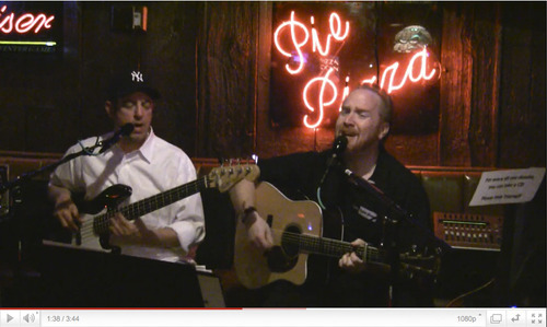 Jeff Masse and Jeff Hall perform at The Pie Pizzeria in Salt Lake City.