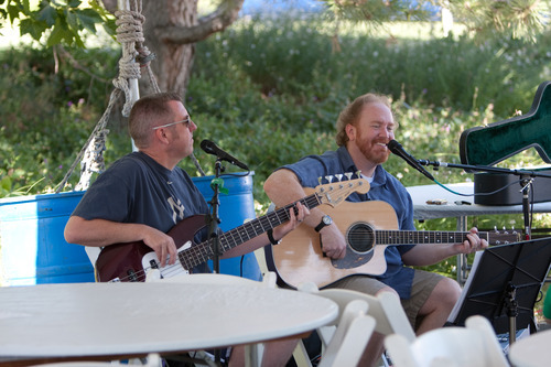 Jeff Hall and Mike Massé perform together at the Green Festival, sponsored by the Jordan Valley Water Conservancy District.