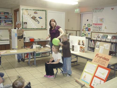 Participants at a science fair at the Sunrise Montessori School in Bountiful. Courtesy Carol Lindsay