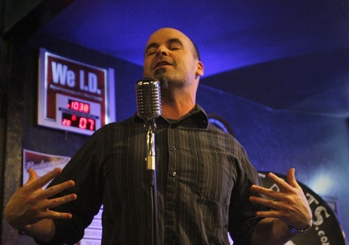 Rick Egan   |  The Salt Lake Tribune  Slam poet Jesse Parent performs in a Poetry Slam competition, at The Graffiti Lounge, Monday, March 7, 2011. Parent is a Utah slam poet who took second place overall in the Individual World Poetry Slam competition in December in Charlotte, N.C.