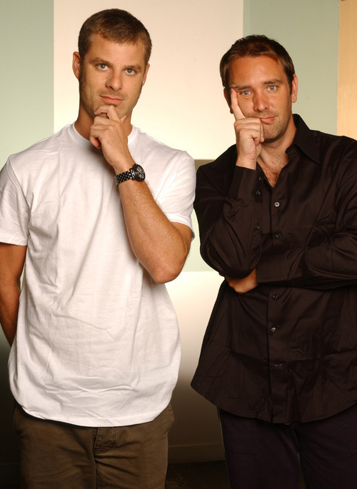 Matt Stone (left) is a co-creator of Comedy Central's