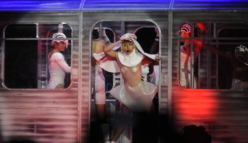 Sarah A. Miller     The Salt Lake Tribune Lady Gaga performs her hit