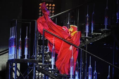 Sarah A. Miller     The Salt Lake Tribune Lady Gaga performs at EnergySolutions Arena on Saturday.