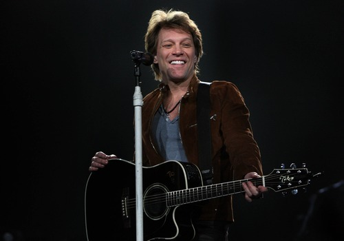 Leah Hogsten  |  The Salt Lake Tribune Jon Bon Jovi rocked a packed EnergySolutions Arena in Salt Lake City on Tuesday, March 22, 2011.