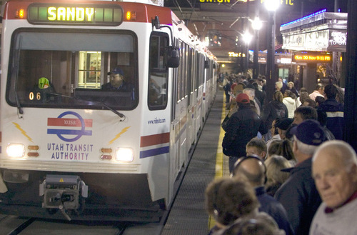 FILE PHOTO  |  The Salt Lake Tribune  The Utah Transit Authority Board heard disappointing budget news on Wednesday despite ridership increases. The bus and train agency is hurting from high fuel costs and is looking at likely surcharges later this year.