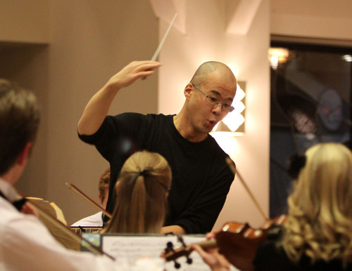 Stephen Holt | Special to The Salt Lake Tribune The Gifted Music School performs under the direction of Eugene Watanabe at the All-Saints Episcopal Church in Salt Lake City. Watanabe's program is supported by some of Utah's major charitable foundations.