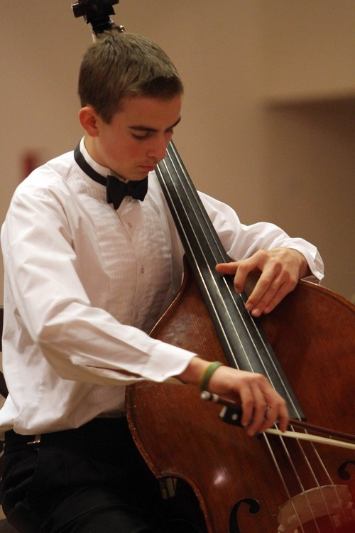 Stephen Holt | Special to The Salt Lake Tribune The Gifted Music School student Christian Hales performs a solo during a 2010 concert in the All-Saints Episcopal Church in Salt Lake City.